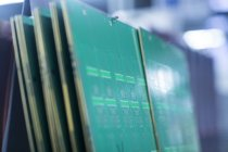 Close up view on conductor boards — Stock Photo