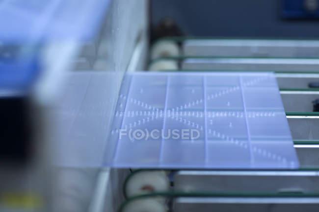 Bordo blu sulle attrezzature — Foto stock