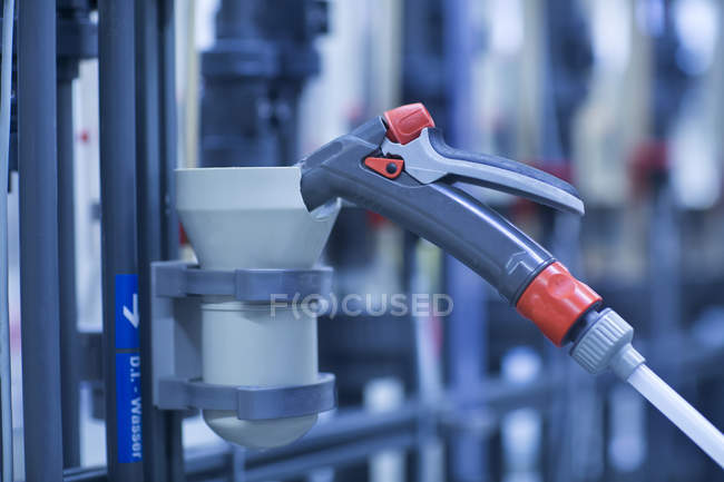 Pipe system with hose — Stock Photo