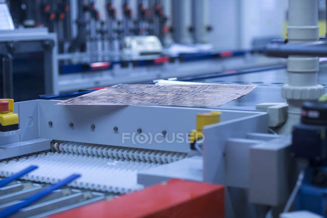 Detail view of equipment at industrial plant — Stock Photo
