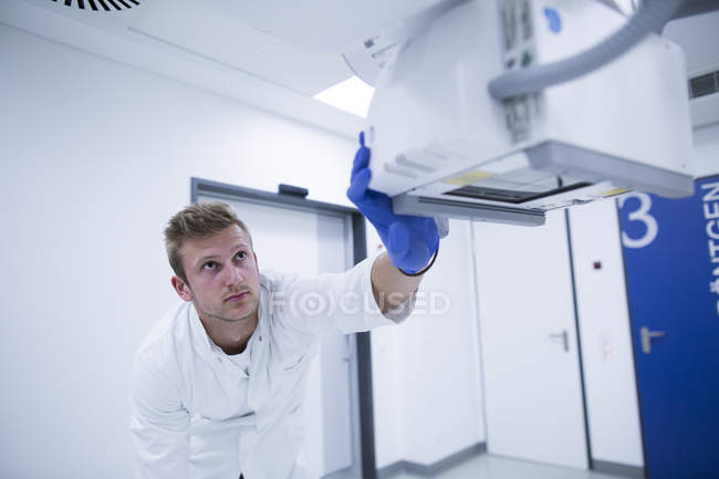 Doctor radiologist during work — Stock Photo