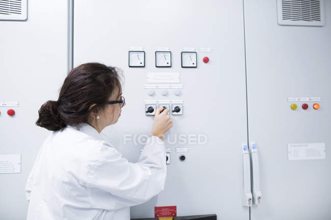 Young woman scientist — Stock Photo