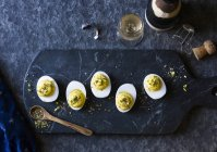 Dukkah deviled eggs — Stock Photo
