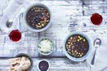 Schwarze Bohne geröstet Salsa-Suppe — Stockfoto