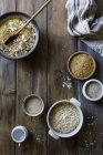Mixed ingredients for gluten free bread — Stock Photo