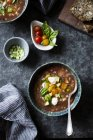 Caprese Gazpacho chilled soup — Stock Photo