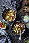 Caprese Gazpacho soupe réfrigérée — Photo de stock