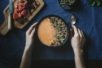 Цитрусовый Дыня Боул льстец — стоковое фото