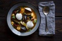 Cioppino fish stew — Stock Photo