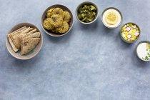 Charred Broccoli Falafel — Stock Photo