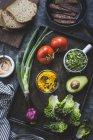 Ингредиенты для приготовления Blt сэндвич — стоковое фото