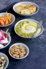 Geröstete Paprika Manchego Käse pesto — Stockfoto