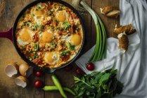 Huevo Turco plato Menemen - foto de stock