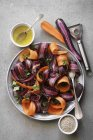 Salad with purple carrots — Stock Photo