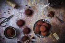 Galletas chocolate vegetariano - foto de stock
