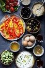 Gesundes Frühstück mit frischem Gemüse — Stockfoto