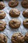 Mantequilla de maní y galletas de chocolate - foto de stock