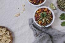 Sweet Potato and Corn Chocolate Chili — Stock Photo
