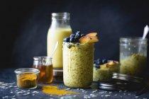 Healthy Golden milk overnight oats — Stock Photo