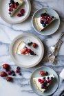 Lemon Berry Coconut Cream Tart — Stock Photo