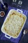 Creamy Artichoke Mac and Cheese — Stock Photo