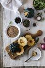 Смажені кабачки Acorn салат — стокове фото