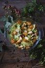 Insalata di cavolo e patate dolci — Foto stock