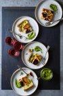 Beetroot ricotta cheese tart — Fotografia de Stock