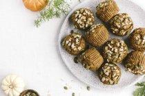 Muffin di zucca avena acero zuccherato — Foto stock