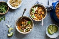 Patata dolce e zuppa di lenticchie Tortilla — Foto stock