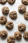 Biscuits aux brisures de chocolat farine d'avoine — Photo de stock