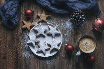Миндаль корицы Рождественское печенье — стоковое фото