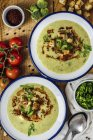 Крем супа брокколи — стоковое фото