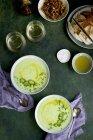 Velouté de pomme de terre ciboulette — Photo de stock