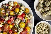 Heirloom Cherry Tomato Salad — Stock Photo