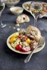 Реліквія вишневий салат з помідорів — стокове фото