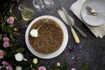 Black Sesame Crumb Cake — Stock Photo