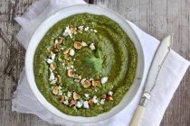 Gorgonzola and Hazelnuts Pesto — Stock Photo