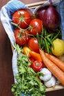 Овочі свіжі стиглі — стокове фото