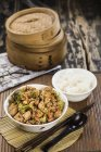Lunch with stir fried vegetables — Stock Photo