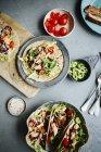 Tacos de saumon à l'avocat — Photo de stock