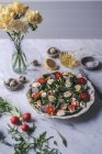 Insalata verde con asparagi arrosti — Foto stock