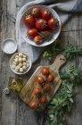 Tomates fraîches mûres — Photo de stock