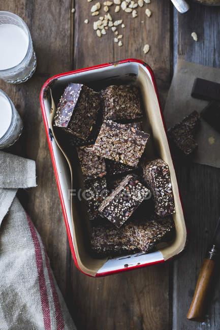 Schokolade knackig Reis behandelt — Stockfoto