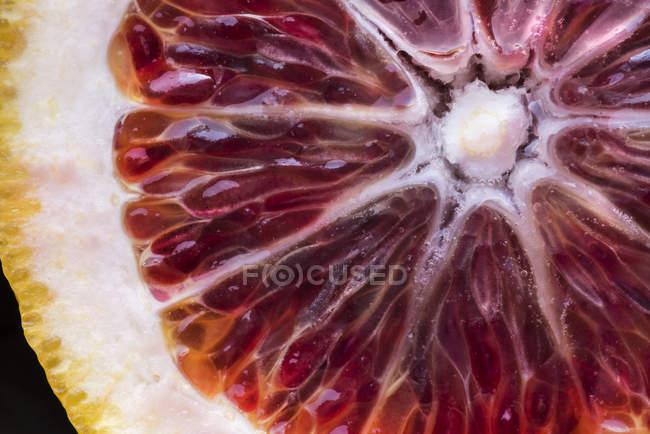 Dettaglio fetta arancione — Foto stock