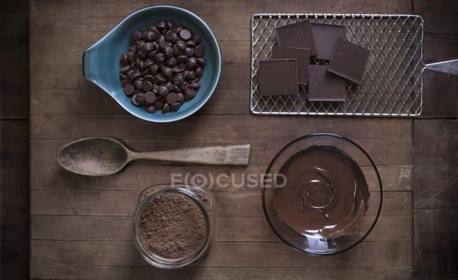 Schokolade Backen Zubehör — Stockfoto