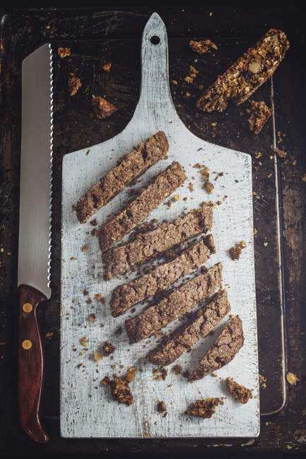 Delicious homemade biscotti — Stock Photo