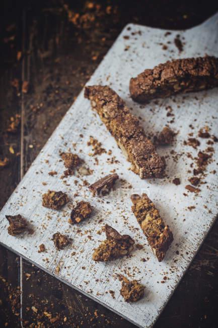 Delicious homemade biscotti — Stock Photo