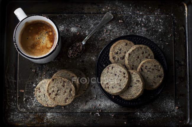 Delicious sable cookies with buckwheat flour — Stock Photo