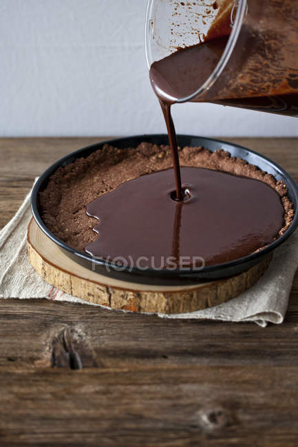 Chcolate Torte backen — Stockfoto